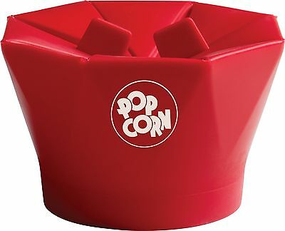 Chef'n PopTop Microwave Popcorn Popper Cherry New