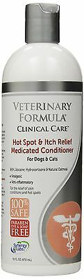 Veterinary Formula Clinical Care Itch Relief Medicated Conditioner 16-Ounce New