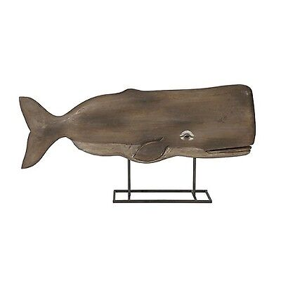 IMAX 84492 Achilles Carved Wood Whale Statuary New
