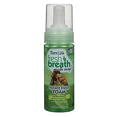 COSMOS Tropiclean Fresh Breath Pet Mint Foam Plaque Remover 4.5-Ounce 4.5... New