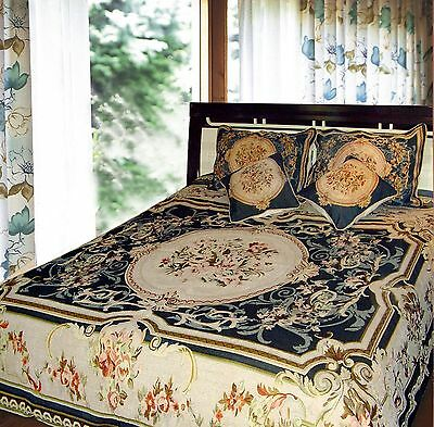 DaDa Bedding 33-1JPG 5-Piece Elegant Chenille Woven Floral Bedspread Quee... New