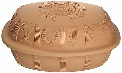 Romertopf 99145 Anniversary Glazed Clay Baker Large New