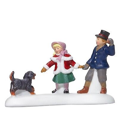 Department 56 Dickens Village Playing With A Puppy New