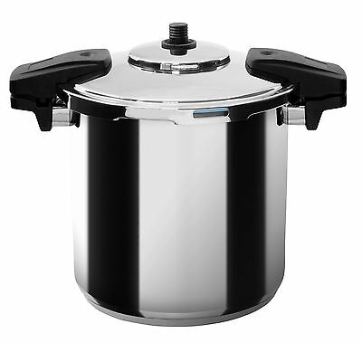 MIU France Stainless Steel Professional 8-Quart Pressure Cooker Silver New