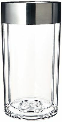 Wine Enthusiast Double Walled Iceless Wine Bottle Chiller clear 1 New