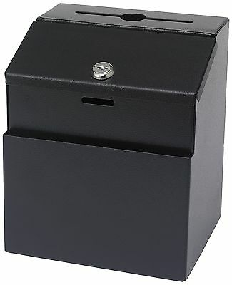 Safco Steel 7 x 6 x 8 1/2 Inch Suggestion/Key Drop Box with Locking Top (... New
