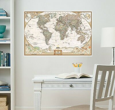 National Geographic WallPops WPE0668 Nat Geo World Map Executive Wall Dec... New