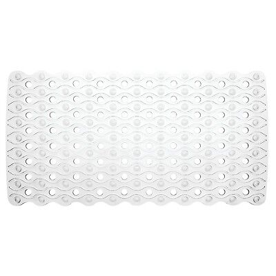 InterDesign Enzo Non-Slip Suction Bath Mat for Shower Bathtub - Clear New