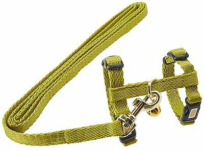 Living World Adjustable Harness and Lead Set for Ferrets-Green-1.2 Meter ... New