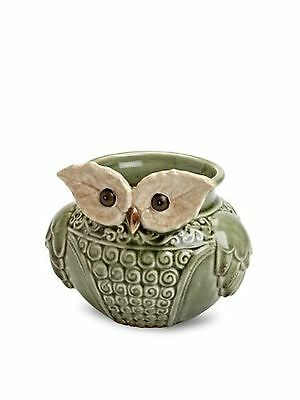 Abbott Porcelain Owl Planter New