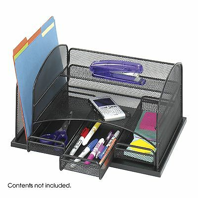 Safco Products Model Organizer with Three Drawers Black Onyx (3252BL) New