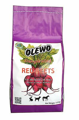 Olewo 24110 2.2-Pound Dehydrated Red Beets Dog Food Supplement 2.2 Pounds New