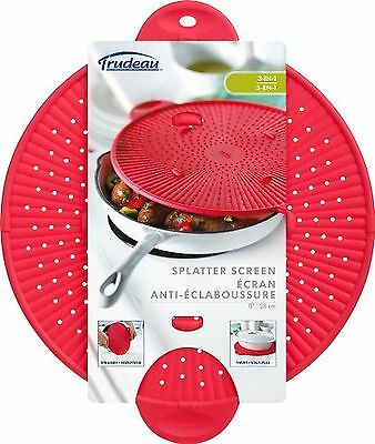 Trudeau 11-Inch Silicone Splatter Screen Red New