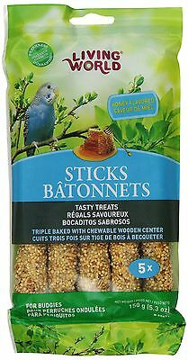 Living World 80671 Budgies Honey Treat Sticks 5.3-Ounce New