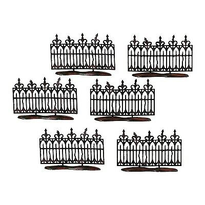 Department 56 Spooky Wrought Iron Fence Set of 6 New