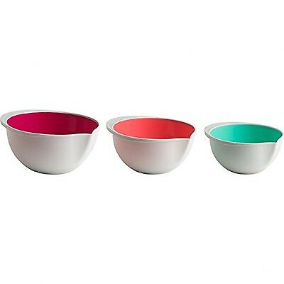 Trudeau 2-Tone Color Mixing Bowls Set of 3 White 1 - Pack New