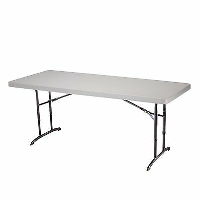 Lifetime 22920 6-Foot Adjustable Folding Table with 72 by 30-Inch Molded ... New