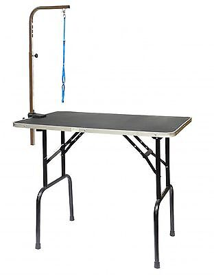 Go Pet Club GT-102 36-Inch Pet Dog Grooming Table with Arm Black 36 in. New