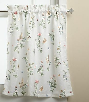 Lorraine Home Fashions English Garden 55-Inch x 36-Inch Tier Curtain Pair... New