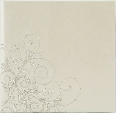 Pinnacle Frames and Accents Wedding Scroll 160-Pocket Photo Album New