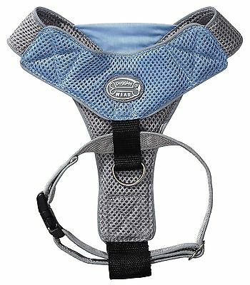 Doggles V Mesh Dog Harness Blue/Gray Small New