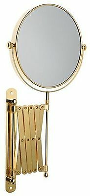 "Danielle Ultra Vue 7"" Wall Mounted Fashion Mirror Shiny Brass 7"" Shiny Br... New"