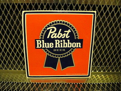 "PBR PABST BLUE RIBBON Beer ~ NEW ~ STICKER 5"" Square Decal FREE US SHIPPING"