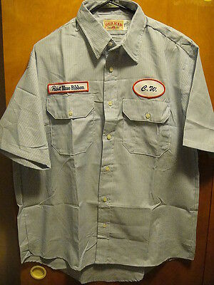 PBR PABST BLUE RIBBON NEW LRG S/SLV Beer Delivery Guy Shirt + FREE KOOZIES CW