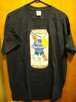 PBR PABST BLUE RIBBON Beer NEW LRG 16oz Can 2016 Gold Medal T Shirt FREE KOOZIE