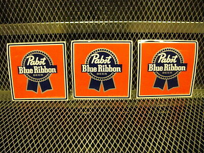 "PBR PABST BLUE RIBBON Beer ~ NEW ~ 3 PACK ~ STICKERS 5"" Square Decal"