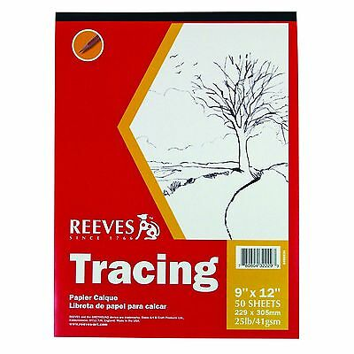 Reeves 9-Inch by 12-Inch Tracing Paper Pad 50-Sheet New