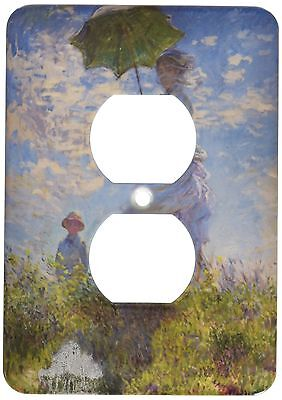 3dRose LLC lsp_49371_6 Woman with A Parasol Monet 2 Plug Outlet Cover New