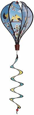 In The Breeze Goldfinch Family Kinetic Hot Air Balloon Wind Spinner 6-Panel New