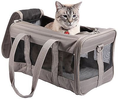 Sherpa Original Deluxe Pet Carrier Large Gray New
