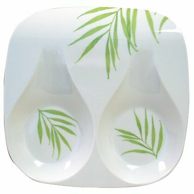 Corelle Coordinates Double Spoon Rest Bamboo Leaf New