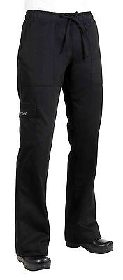 Chef Works CPWO-BLK Women's Cargo Chef Pants Black Size M New