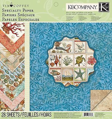 K & Company Tim Coffey Travel Specialty Paper Pad 12-Inch by 12-Inch New