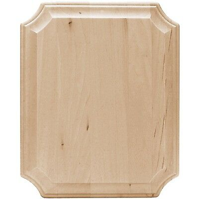 Walnut Hollow 8-Inch by 10-Inch Basswood French Corner Wide Edge Plaque New