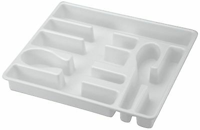 United Solutions BA0010 White Plastic Cutlery Tray and Utensil Organizer-... New