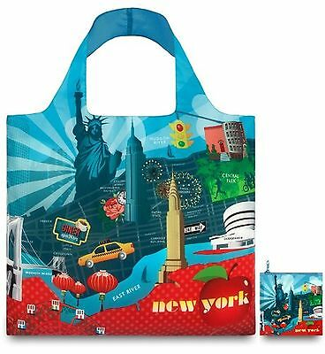 LOQI Reusable Tote New York Print Multi United States Carry-On One Size New