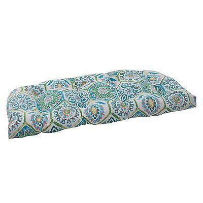 Pillow Perfect Indoor/Outdoor Summer Breeze Wicker Loveseat Cushion Pool New