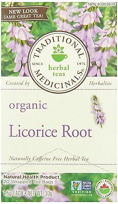 Traditional Medicinals Organic Licorice Root 20 tea bags New