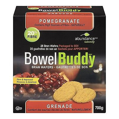 Abundance Naturally Bowel Buddy Bran Wafers - Pomegranate 700 Gram New