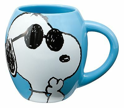 Peanuts Joe Cool 18 Oz. Oval Ceramimc Mug Peanuts Joe Cool New