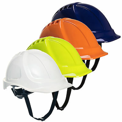 Portwest PS54 Endurance Plus Unvented ABS Workwear Chin Strap Hard Hat Helmet