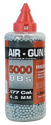Swiss Arms Steel BB's 5000 rounds 0.177 (4.5 mm cal) Silver New