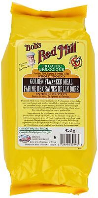 Bob's Red Mill Organic Golden Flaxseed Meal 453 gm New