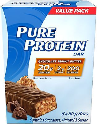 Pure Protein Chocolate Peanut Butter Value Pack 6- Count New