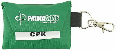 Primacare RS-8631 CPR Shield/Barrier Keyring Pouch New