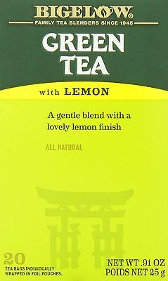 Bigelow Tea Green Tea with Lemon (Pack of 6) New